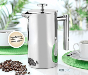 Kaffeebereiter Edelstahl Doppelwandig Esmeyer Serie Oxford 1000ml