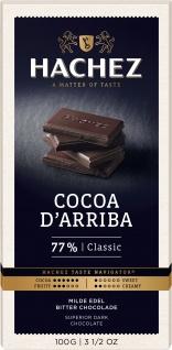 Hachez Cocoa Arriba Classic Edel Bitter Schokoladen Tafel 100g