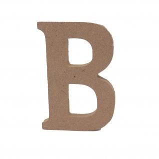 Bastelbuchstabe B Holzbuchstabe zum basteln Buchstabe aus Holz