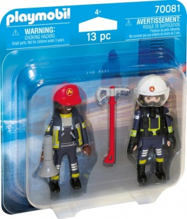 Playmobil Duo Pack Feuerwehrmann und Feuerwehfrau Figurenset 70081