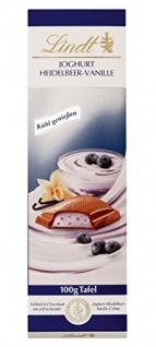 Lindt & Sprüngli Joghurt Heidelbeer-Vanille Tafel, 5er Pack (5 x 100 g)