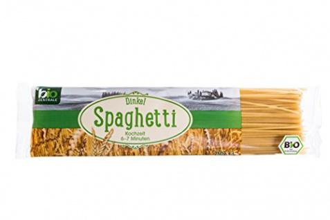 biozentrale Dinkel Spaghetti, bio, 10er Pack (10 x 250 g)