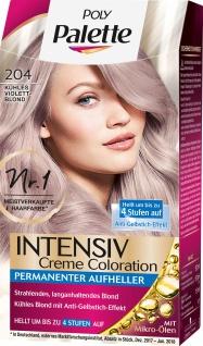 POLY PALETTE Intensiv Creme Coloration 204 Kühles Violet Blond Stufe 3 115 Ml