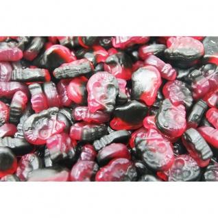 Totenkopf Micro Mini Fruchtgummi mit Himbeere und Lakritz 1000g