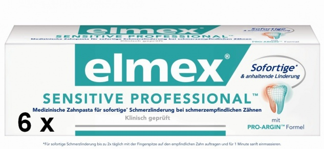Elmex Sensitive Professional Zahnpasta perfekte Mundhygiene 75ml 6er Pack