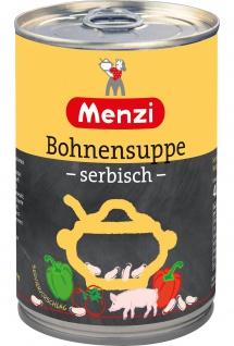 Menzi Serbische Bohnensuppe mit weißen Bohnen pikant gewürzt 400ml