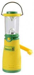 Beluga Spielwaren 65055 - Janosch Abenteuer Zeltlampe mit Dynamo, gelb/grün