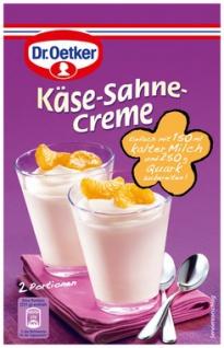 Oetker Käse-Sahne-Creme Desserts nach Tortenart Einfach zubereitet 63g