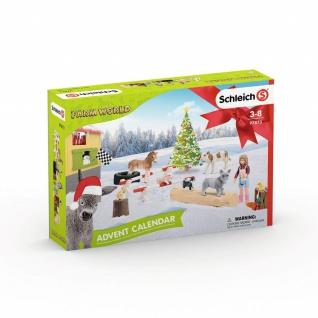 Schleich 97873 Adventskalender Farm World 2019 für Kinder ab 3 Jahren