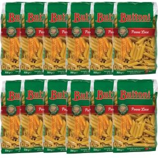 Buitoni Penne Lisce Selezionata di Grano Duro Pasta 500g 12er Pack