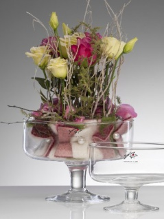 Glasschale Servierschale von Sandra Rich Serie BOWL Transparent 14cm