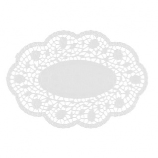 Mokkadeckchen oval 24 cm x 16, 5 cm weiss 500 Stück
