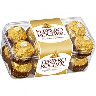 Ferrero Rocher 16 Stück in der Packung Nuss Pralinen Spezialität 200g