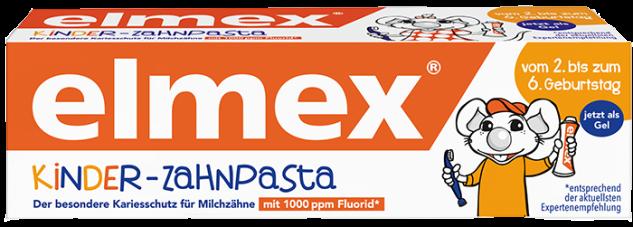 Elmex Kinder Zahnpasta 2 bis 6 Jahre mit Aminfluorid 50ml 3er Pack