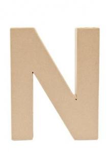 """Pappmache Buchstabe """" N"""" stehend zum basteln kreativ Rico Design Idee"""