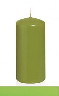 Kerzen Stumpenkerzen Apfelgrün 150x70mm RAL Qualität 12 Stück