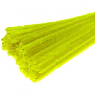 Meyco Chenilledraht Biegeplüsch Pfeiffenputzer gelb 50cm 10 Stück