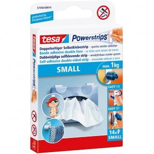 14 tesa Powerstrips SMALL selbstklebende Klebestreifen für max 1 kg