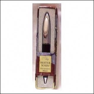 Kugelschreiber Clip mit Namensgravur Bester Sohn im schicken Etui