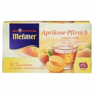 Meßmer Aprikose Pfirsich Früchtetee lieblich mild 20 Beutel 50 g