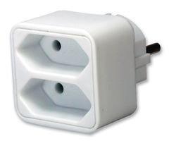 Brennenstuhl Netzsteckeradapter Stecker Stecksystem Euro Buchse weiß