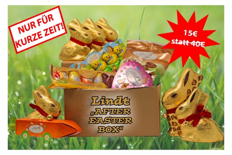 Lindt Schokolade AFTER EASTER BOX eine Mischung Osterleckereien