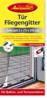 Äroxon Tür Fliegengitter Anthrazit 1 P - Vorschau