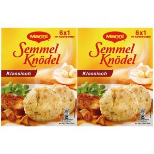 Maggi Semmelknödel die Klassischen 6 Stück im Kochbeutel 200g 2er Pack