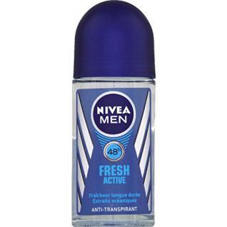 Nivea - For Men - Fresh active, anti-transpirant 24h, fraîcheur longue durée, aux extraits océaniques - Le roll-on de 50ml - (for multi-item order extra postage cost will be reimbursed) - Vorschau