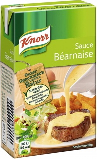 Knorr Tafelfertige Bearnaise Soße mit aromatischen Kräutern 250ml