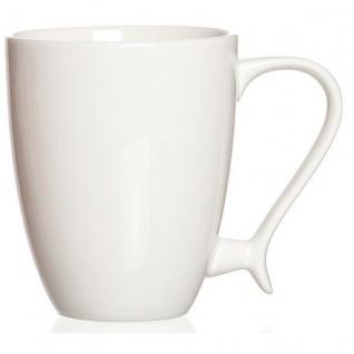 Ritzenhoff und Breker Kaffeebecher Swing Porzellan weiß 270ml