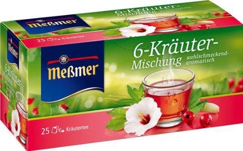 Meßmer 6 Kräuter Mischung wohlschmeckend Kräutertee 4er Pack