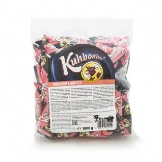 Kuhbonbons Erdbeer Lakritz softweiche Karamelle Glutenfrei 1000g