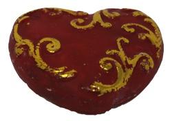 Christbaumschmuck orientalischer Stil Farbe rot gold Herzform