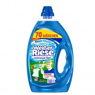 Weißer Riese Universal Gel Vollwaschmittel für saubere Wäsche 3500ml