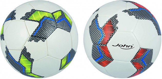 John Fußball Premium Hybrid Machinengenäht in der Farbe Neon