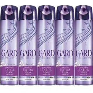 GARD Haarspray Extrastark zuverlässig mit Bambusextrakt 250ml 5er Pack