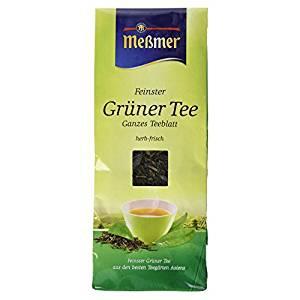Meßmer Feinster Grüner Tee herb und erfrischend ganzes Teeblatt 150g