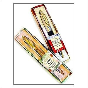 Kugelschreiber Clip mit Buchstabengravur N in einem schicken Etui