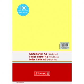 Karteikarten Brunnen A5 Farbe gelb unliniert Inhalt 100 Stück