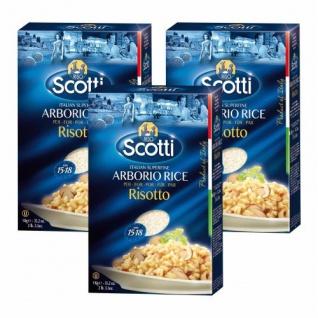 3x Riso Scotti Reis 'Arborio', 1000 g