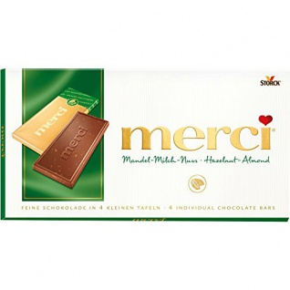Storck merci Mandel-Milch-Nuss Tafelschokolade 100g
