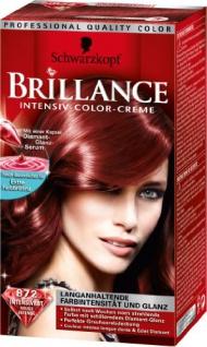 Schwarzkopf Brillance Intensiv-Color-Creme Stufe 3, 872 Intensivrot, 1er Pack