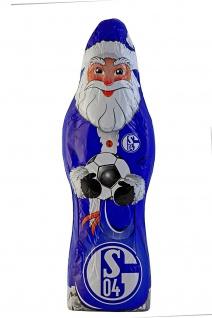 Riegelein Weihnachtsmann Schalke 04 Nikolause aus Schokolade 150g