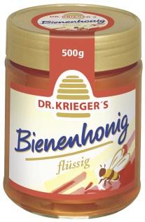 Dr Kriegers Bienenhonig flüsssig natürlicher Brotaufstrich 500g