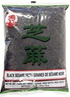 Sesamsaat schwarz erste Qualität aus Thailand Beutelinhalt 454g