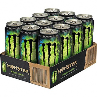 Monster Rehab Green Tea Energy Drink mit Taurin und Guarana 500ml 9erPack