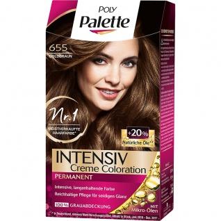POLY PALETTE Intensiv Creme Coloration 655 Goldbraun 115Ml Stufe 3