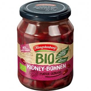 Hengstenberg Bio Kidney Bohnen mit Meersalz verfeinert im Glas 370ml