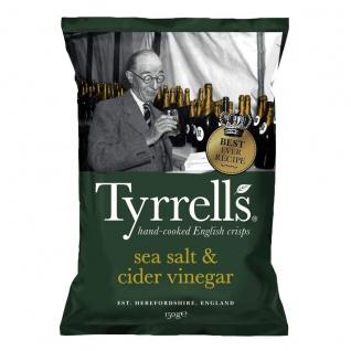 Tyrrells Handcooked Sea Salt & Cider Vinegar Chips vegan 150g